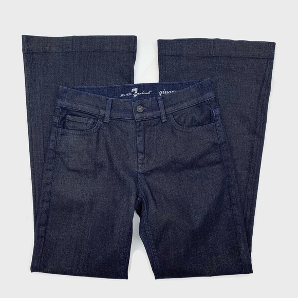 7 for all Mankind Denim - 7 For All Mankind Ginger Flare Jean Dark Coated 28